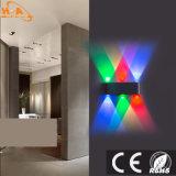 Iluminación novedad al por mayor RGB LED lámpara de pared Luz