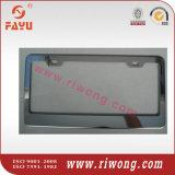 Il nero o supporto decorativo del piatto dell'acciaio inossidabile dell'argento