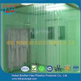 Het maagdelijke Materiële ESD Groene Dubbele Gordijn van de Deur van de Strook van Geribbeld pvc Plastic
