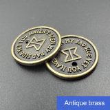 Изготовленный на заказ ярлык логоса тавра металла бирки ярлыков одежды металла сплетенный джинсыами для одежды Mens