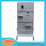 Permanenter Gebrauch-Knall-Fußboden, der Slatwall Metallausstellungsstand steht