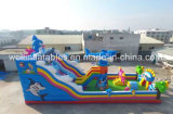 Ocean World Theme Giant gonflable Slide Amusement Park Combo