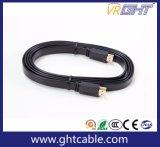 Высокая Defination плоский кабель HDMI для 1,4 В/2,0 В 4K*2K 1080P (F016)