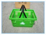 Paniers à provisions en plastique de double traitement