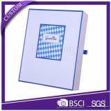 Caixa de presente de embalagem rígida com dobradiças de tamanho grande para roupas