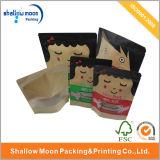 Saco de empacotamento do presente de papel feito sob encomenda luxuoso com punho (AZ-121719)