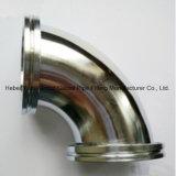Coude de bride d'acier inoxydable d'ajustage de précision de pipe