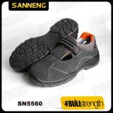 Pattini di sicurezza di cuoio del sandalo con la mascherina d'acciaio (SN5560)