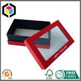 Коробка подарка роскошного окна ясности красного цвета твердая бумажная