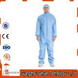高品質の青く使い捨て可能な微小孔のあるつなぎ服の防護衣