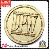 Pièces de monnaie de souvenir de couleur d'or d'OEM de qualité
