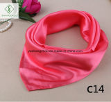 60 * 60cm Satin Soie Plain Cravat Mode Écharpe Lady Square