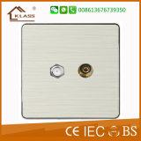 Алюминиевый переключатель стены дверного звонока Wire-Drawing английского стандарта