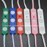 Módulo impermeável do diodo emissor de luz da cor branca 3SMD5630 12V 1.5W do módulo da injeção do diodo emissor de luz