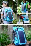 Перемещение зеленого цвета задействуя солнечный Backpack с креном силы