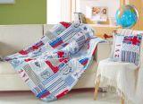 2 en 1 manta del amortiguador del algodón de múltiples funciones del sofá de tiro de la almohadilla del cabrito de lino de la manta