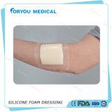 부상을%s 실리콘 접착제를 옷을 입는 의학 거품 국경 당뇨병 부상 배려