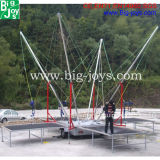 Hot Sale Bungee Jumping Trampoline, comercial adulto Bungee Trampoline