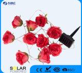 Indicatore luminoso solare della stringa del fiore del LED per la decorazione di cerimonia nuziale