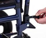 Manuale d'acciaio, bracciolo registrabile di altezza, sedia a rotelle, per gli anziani (YJ-028)