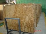 Carrelage de bonne qualité de marbre de jaune d'en cuivre de prix usine