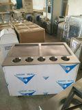 Machine à glace à rouleaux de poêle à pain double en acier inoxydable