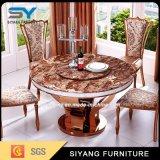 Домашняя таблица Brown обедая таблицы мебели установленная круглая мраморный