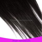 Волосы бразильских волос девственницы прямые с 3 частями закрытия шнурка