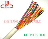 Câble téléphonique de l'isolation 2X2X24AWG de câble de caractéristiques