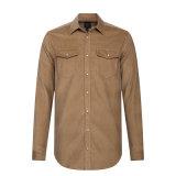 На заводе оптовая мужская длинной втулки рубчатый вельвет футболки на заказ