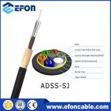 Кабель ADSS оптического волокна струбцины напряжения G652D поставкы ADSS изготовления
