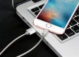 Colorida de carga de la piel de metal para Andriod Micro USB cable de datos