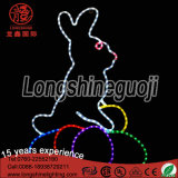 2017 LED Decorativa Waterproof 2D Motif Rope Luz Decorativa para Decoração de Páscoa