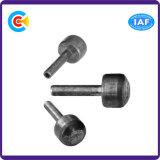 Pin principal cylindrique non standard d'arrière d'hexagone de fer