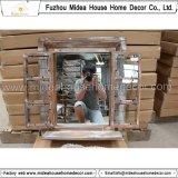 Handcrafted затрапезное деревенское деревянное зеркало формы окна (в штоке)