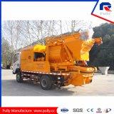 Camión de alta eficiencia montado en bomba de mezcla de hormigón con Commins Generador