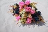 Fiori artificiali di seta Rosa falsa di alta qualità per i grossisti domestici della decorazione di cerimonia nuziale