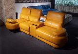 Sofá de cuero de la sala de estar de la sala de estar para la pequeña casa