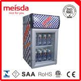 Mini porta de vidro refrigerador de exibição