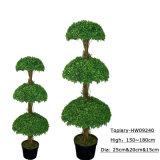 Bonsai di plastica artificiali dell'albero del Topiary della decorazione calda di vendita