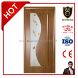 Classic Design with Tempered Painted Glass Window Solid Wooden DOOR