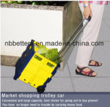 Vouwbare het Winkelen multi-Fonction Bewegende Toolbox van het Karretje