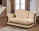 Sofà moderno con la mobilia del cuoio genuino impostata per il sofà domestico