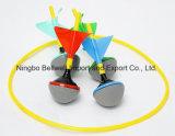 Color personalizado jardín césped mini juego de dardos con 4 dardos codificados por colores