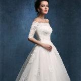 2017 Nuevo hombro Half-Sleeves off bola Tull vestido vestido de novia