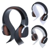 Bride de fixation acrylique noire claire blanche d'étalage d'écouteur