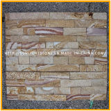 Piedra verde/gris natural de la cultura/azulejos de la pared de piedra de la cultura