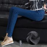 Jeans droits de dames de denim mince de qualité