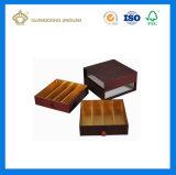 Tarjeta dorada de lujo 9pcs de embalaje de chocolate Caja de regalo (con ventana y el divisor)