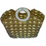 金カラーPVCまたはTPUの浜またはキャンプのための膨脹可能な泡ハンドバッグ